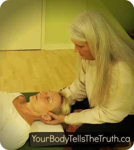 marlene uses gentle non-invasive movement in an individual session of Functional Integration in Toronto